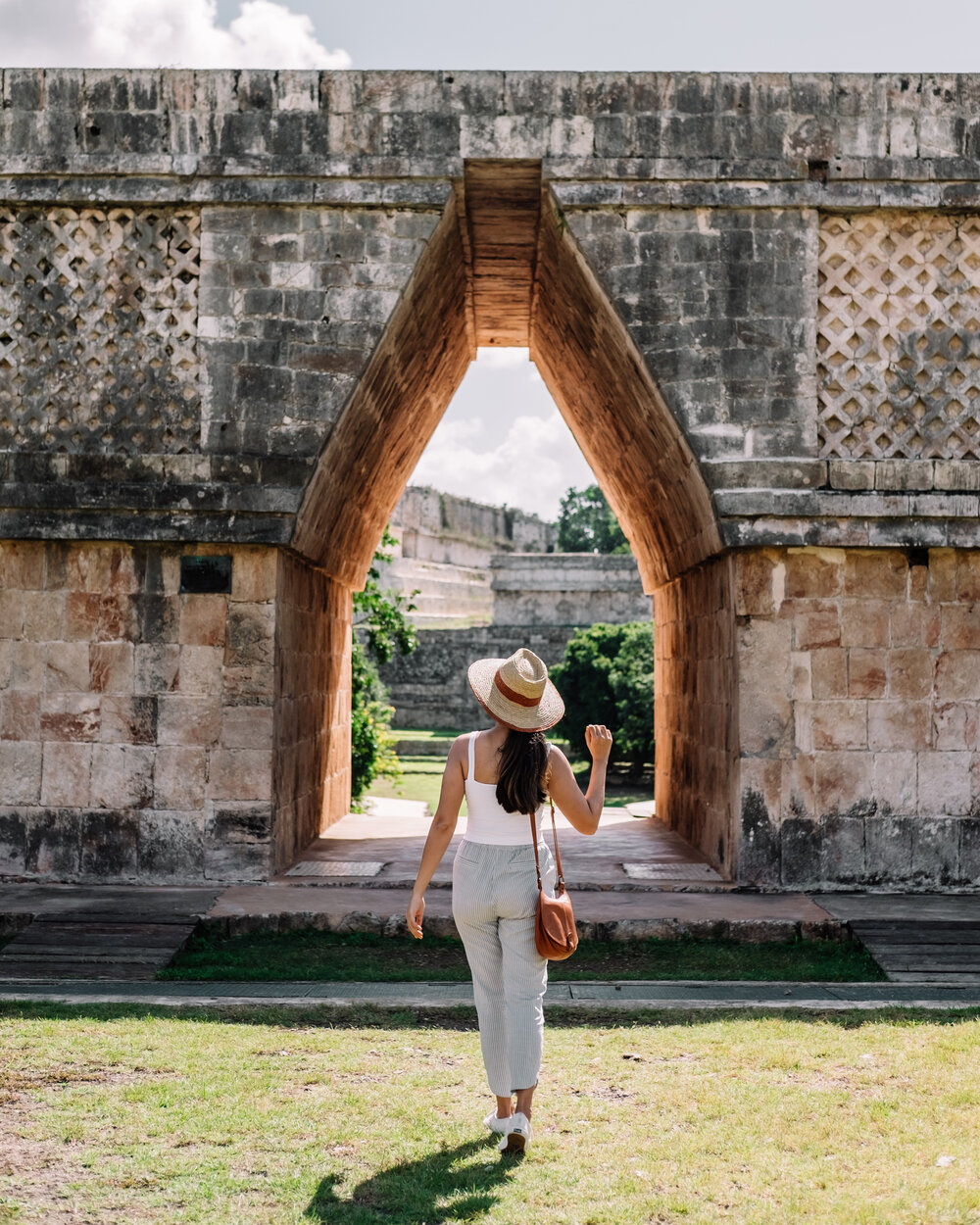 Rachel Off Duty: A Woman Admires the Ruins at Uxmal, Mexico