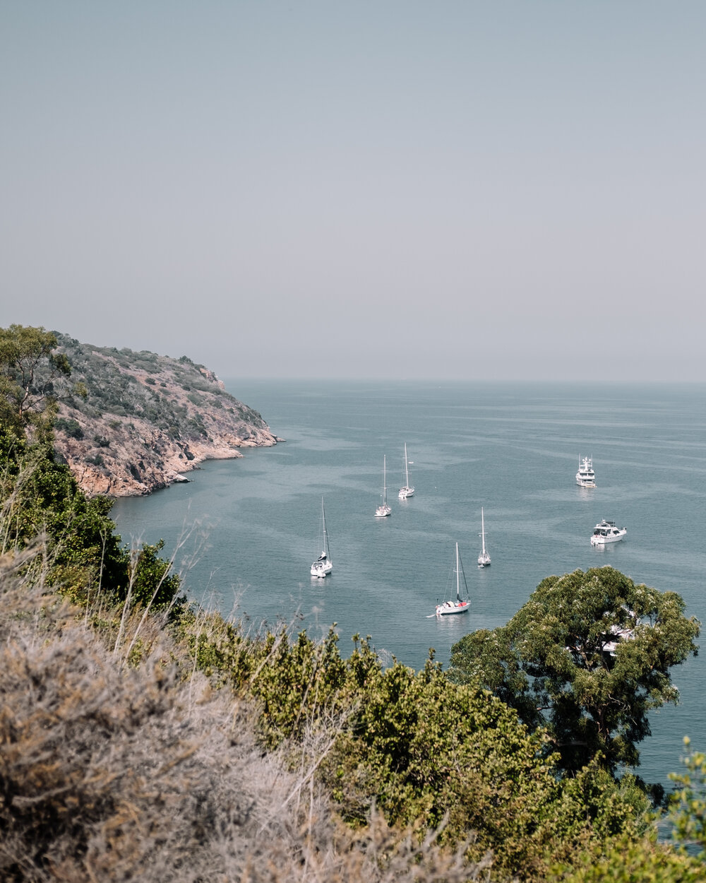 Rachel Off Duty: Sailboats Anchored at Channel Islands National Park
