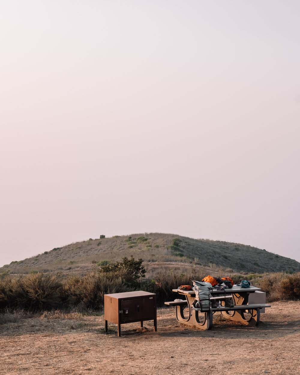 Rachel Off Duty: A Campsite and Picnic Table in Channel Islands National Park