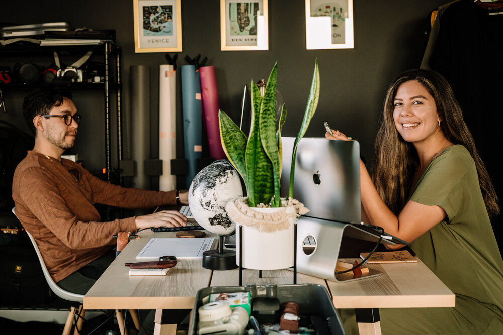 Rachel Off Duty: Man and Woman Working in a Home Office