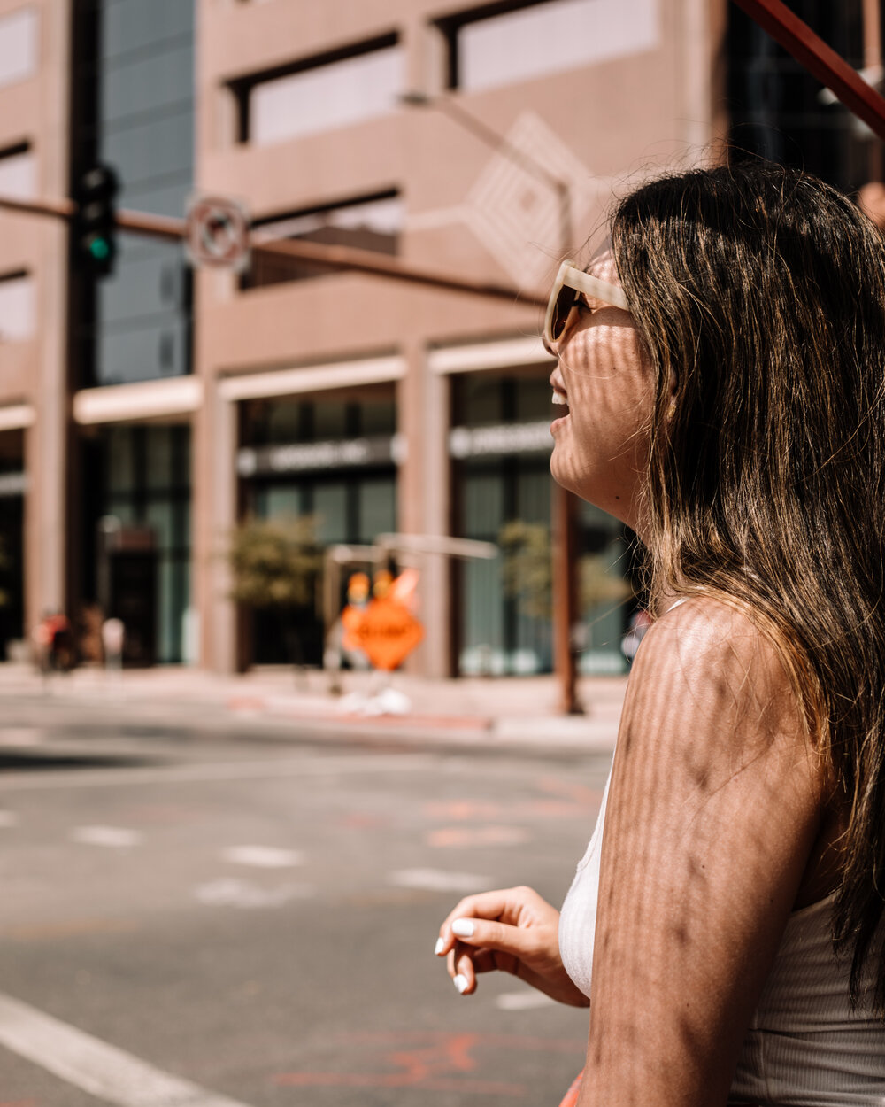 Rachel Off Duty: A Woman Laughing on a Pedicab Ride in Phoenix