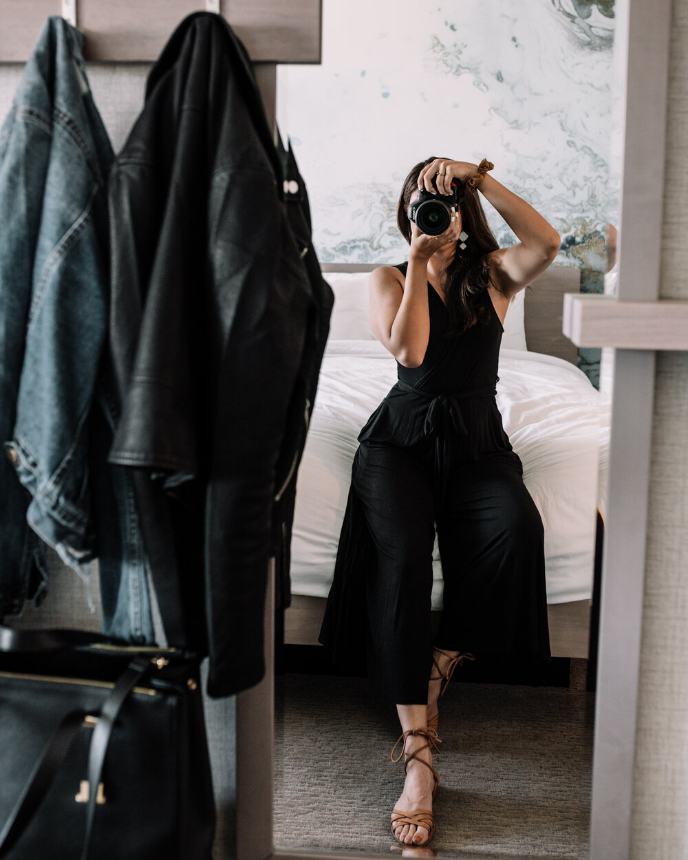 Rachel Off Duty: Woman Taking a Mirror Picture in a Hotel Room