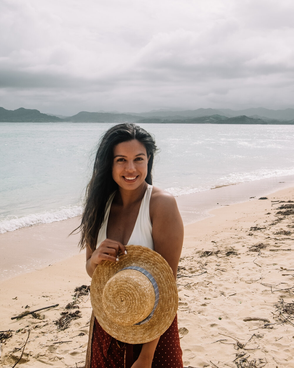 Rachel Off Duty: Woman Posing for Photo in Caramoan, Philippines