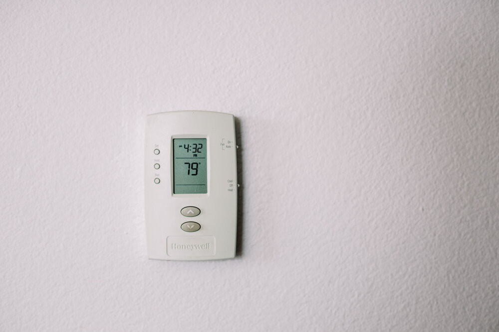 Rachel Off Duty: Thermostat on a White Wall