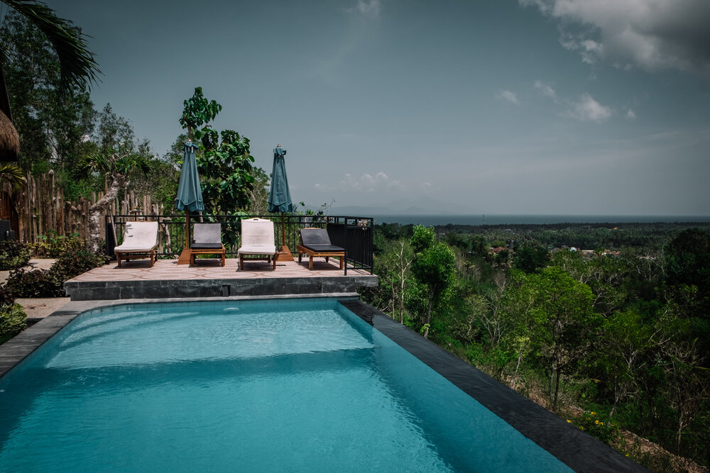 Rachel Off Duty: The Pool and View at Sunrise Penida Hill Hotel in Nusa Penida