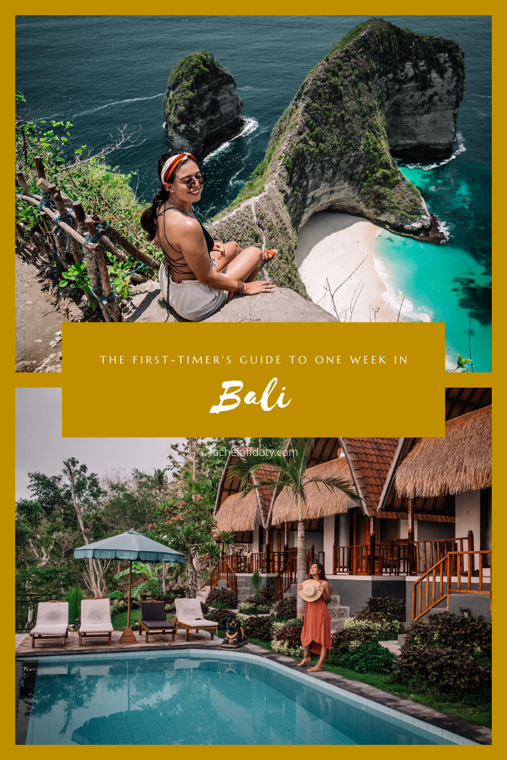 Rachel Off Duty: The Ultimate First-Timer's Itinerary For 1 Week in Bali