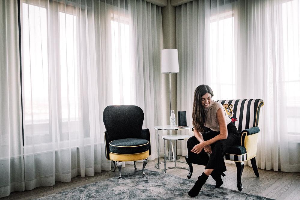 Rachel Off Duty: Woman in Hotel Room in Quebec City
