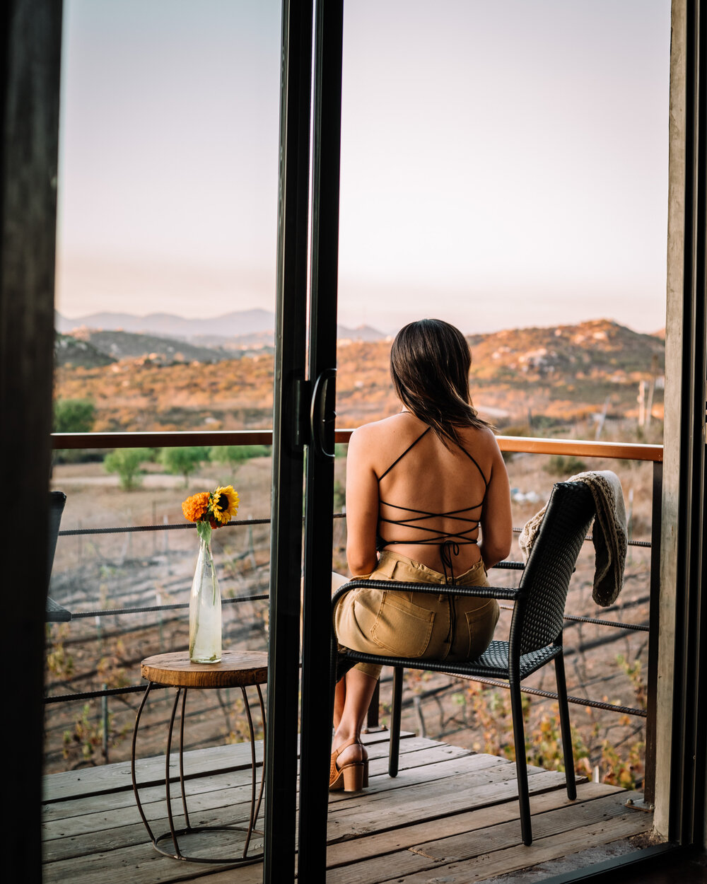 Rachel Off Duty: Woman Looking Out at the Scenery
