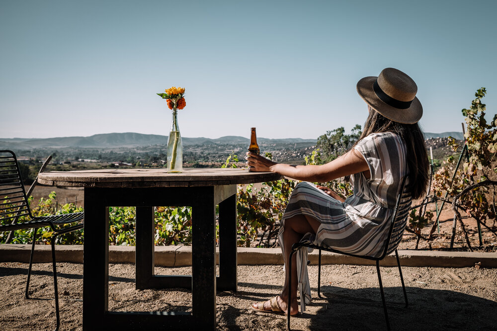 Rachel Off Duty: Woman Sipping a Beer in The UvaUva Eco Cabins