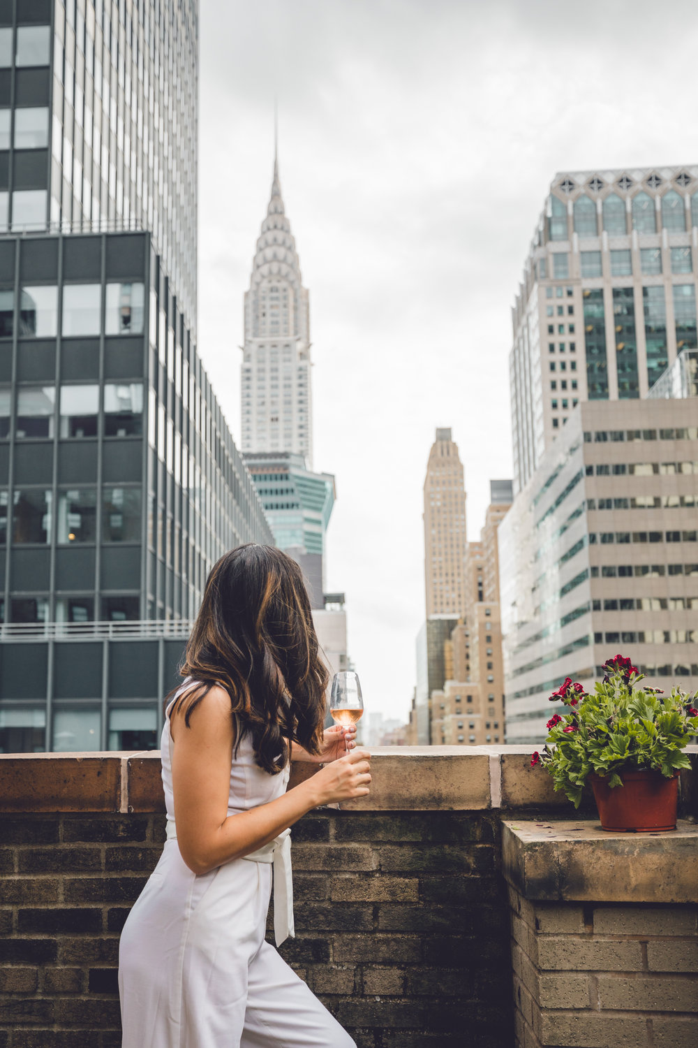Rachel Off Duty: Woman on the Roger Smith Hotel Rooftop