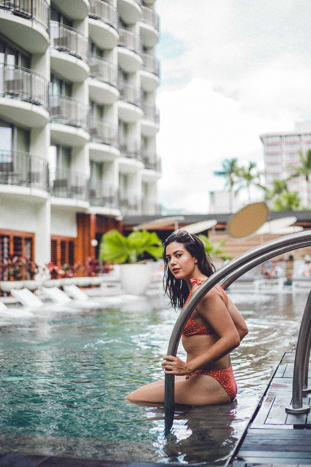 Rachel Off Duty: Woman at The Laylow Hotel Pool