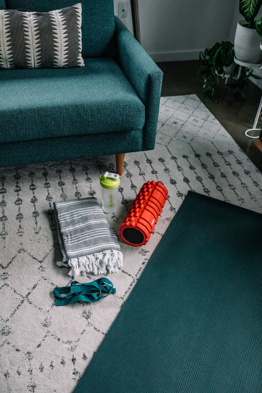 Rachel Off Duty: Workout Station at Home