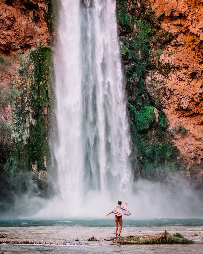 Rachel Off Duty: Woman Admiring a Waterfall