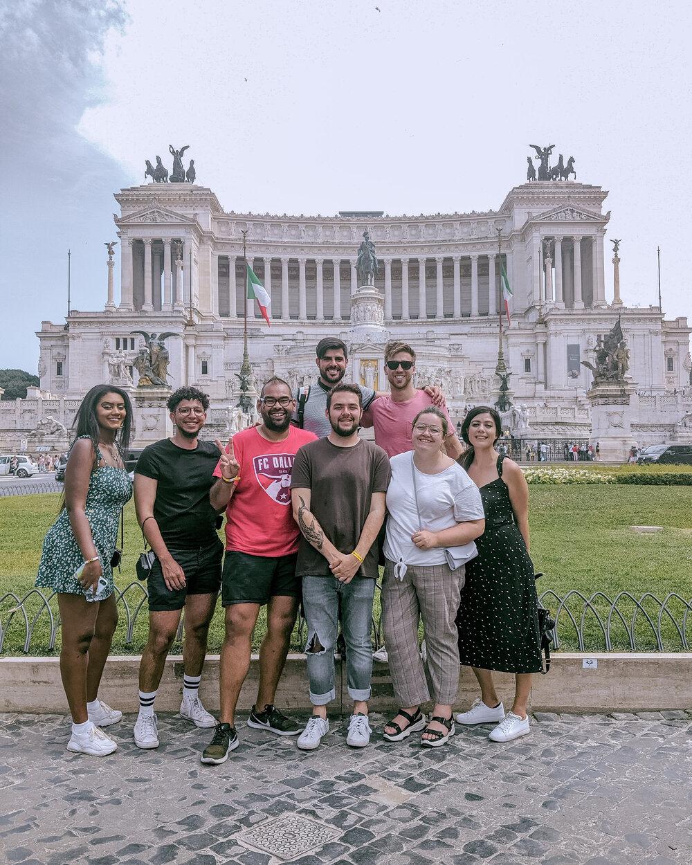Rachel Off Duty: Group in Europe
