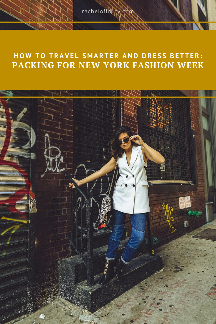 Rachel Off Duty: Packing for New York Fashion Week