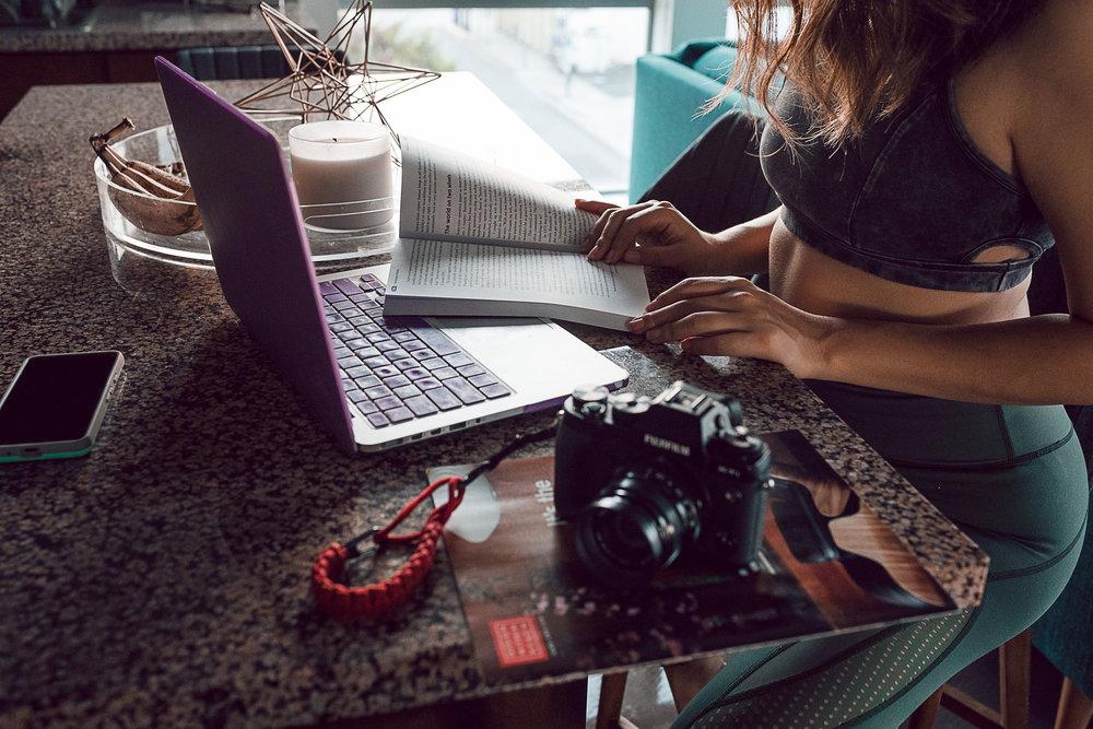 Rachel Off Duty: Woman in Front of Laptop