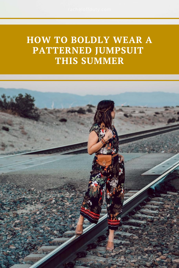 Rachel Off Duty: How to Boldly Wear a Patterned Jumpsuit this Summer