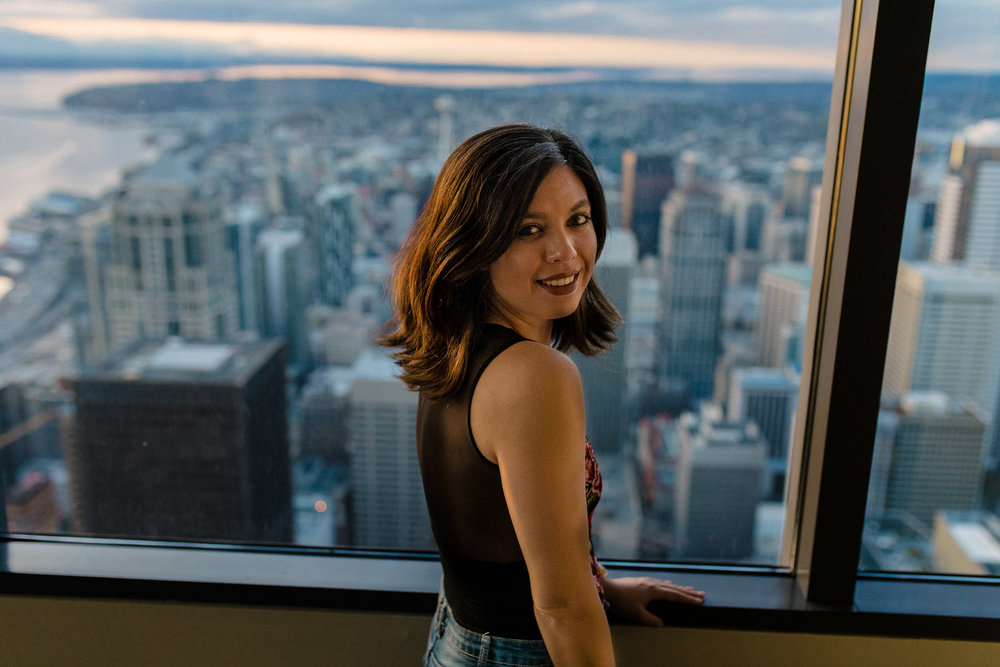 Rachel Off Duty: Woman at Sky View Observatory