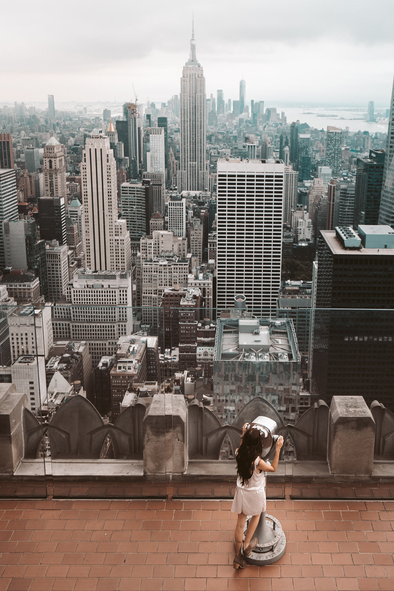 Rachel Off Duty: A Woman Admires the View of Manhattan, NYC